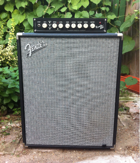 Fender Rumble 200 + Rumble 210 Bass amplifier head and cabinet