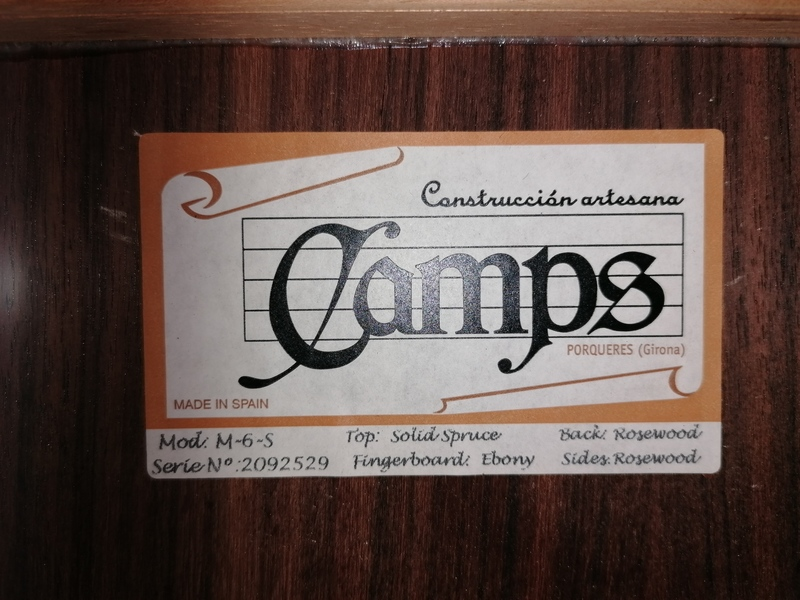 Camps M-6-S Lefthand Left handed acoustic guitar