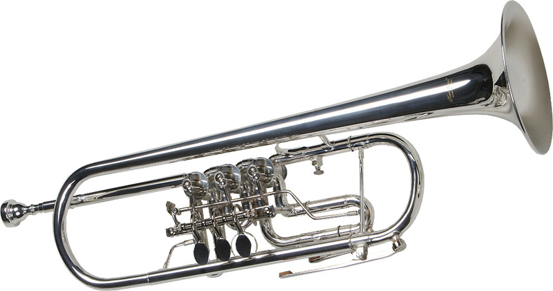 Karl Glaser 1491 Forgószelepes Bb Trombita