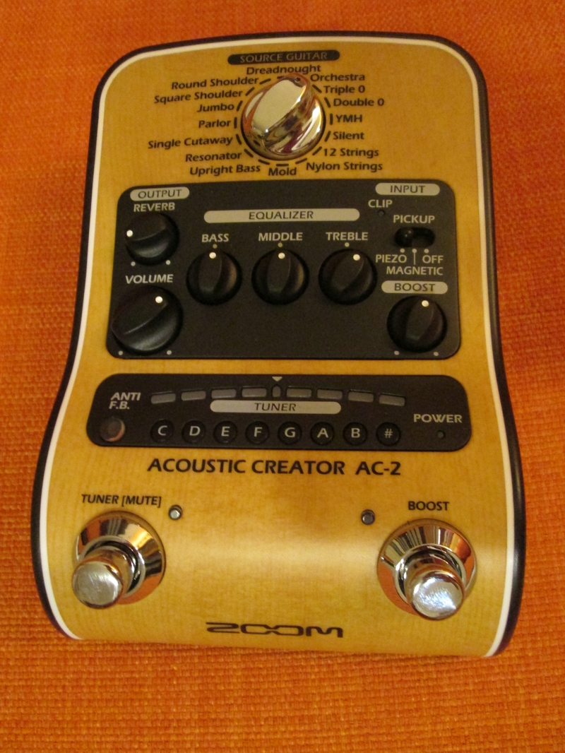 Zoom AC-2 Acoustic guitar multi effect