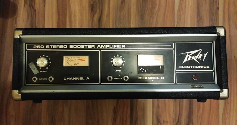 Peavey 260 S 2 Channel Stereo Booster Vintage Végfok