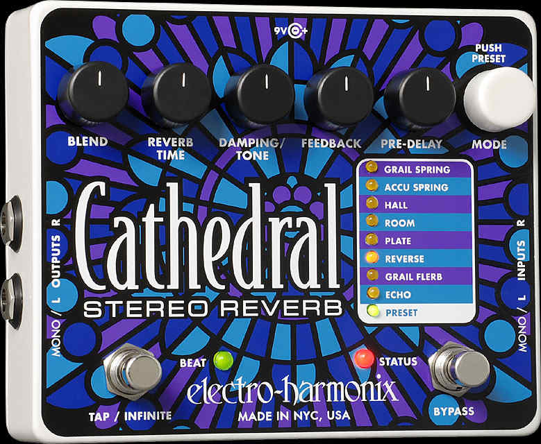 EHX Cathedral Reverb pedál